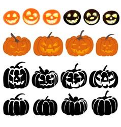 Pumpkins Set vector image