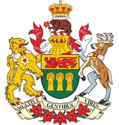 Saskatchewan Province vector image