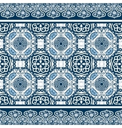 Seamless pattern with chinese ornament peony vector image