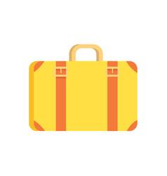 Vintage suitcase icon vector
