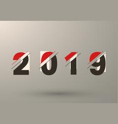 2019 background modern design vector image