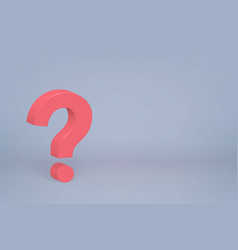 3d question mark symbol on scene background vector image