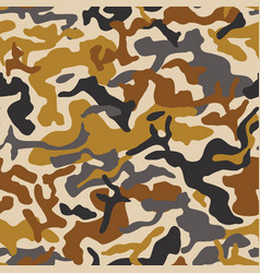 Abstract camouflage seamless pattern camo vector