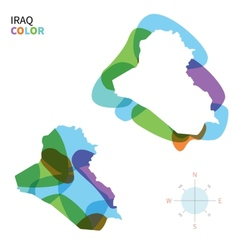 Abstract color map of Iraq vector