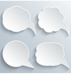 abstract white speech bubbles set vector image