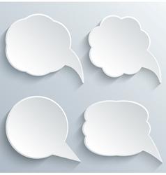 Abstract White Speech Bubbles Set vector