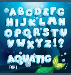 Aquatic font vector