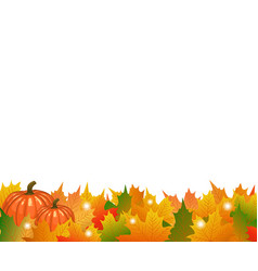 Autumn maple tree leaves with ripe thanksgiving vector