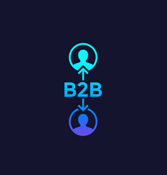 B2b business concept icon vector