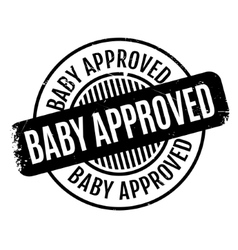 Baby Approved rubber stamp vector image