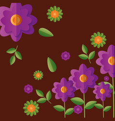 background flowers decoration vector image