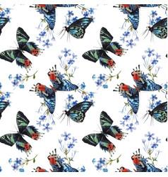 beautiful watercolor colorful butterflies vector image