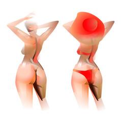 beautiful womanin red bikini isolated vector image