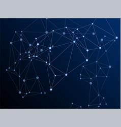 Big data cloud scientific concept vector