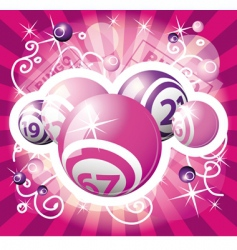 bingo or lottery pink design vector image