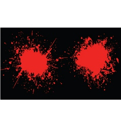 blood splats vector image
