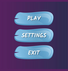 blue options selection windows set vector image