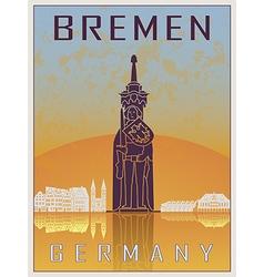 Bremen Vintage Poster vector image