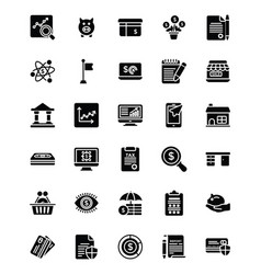 Bundle of startup and new business glyph i vector
