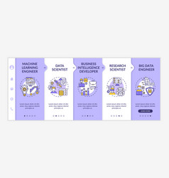 careers in ai onboarding template vector image