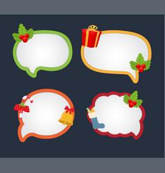 cartoon bubble speech for christmas dialog vector image