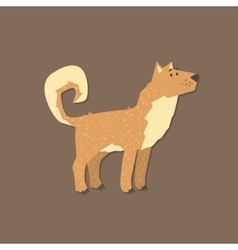 Cartoon shepherd dog image vector