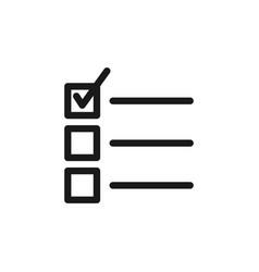 checklist icon graphic design template vector image