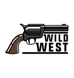color vintage wild west emblem vector image