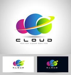 Colorful Cloud Logo vector
