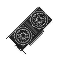 computer video card vector image