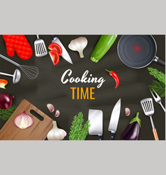 cooking time background vector image
