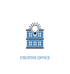 creative office concept 2 colored icon simple vector image