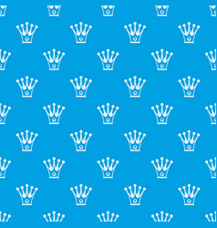 crown pattern seamless blue vector image