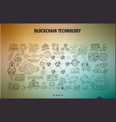 cryptocurrency concept hand drawn doodle designs vector image