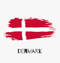 denmark watercolor national country flag icon vector image