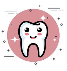 dental care kawaii characters vector image