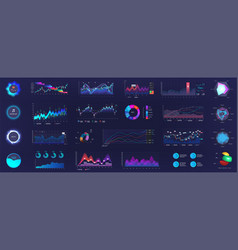 Detailed dashboard infographics template vector
