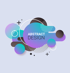 dynamical colored form gradient abstract banner vector image
