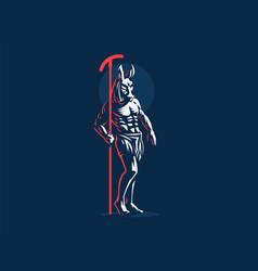 Egyptian god seth emblem vector