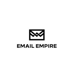 email empire logo design concept vector image