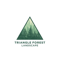 Evergreen pines spruce cedar trees logo design vector