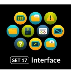 Flat icons set 17 - interface collection vector
