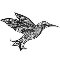 Flying hummingbird hand drawn vector