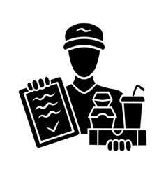 Food delivery glyph icon express courier service vector