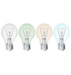 Four flourescent bulbs vector image