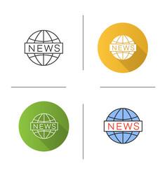 global news icon vector image