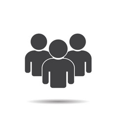 group people icon teamwork vector image