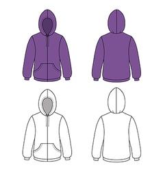 Hoodie sweater vector image
