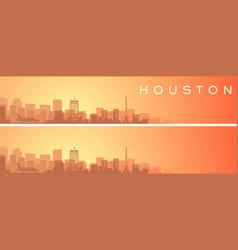 Houston beautiful skyline scenery banner vector