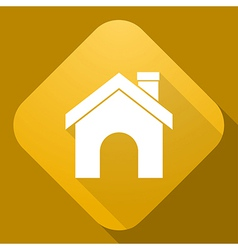 icon of House with a long shadow vector image